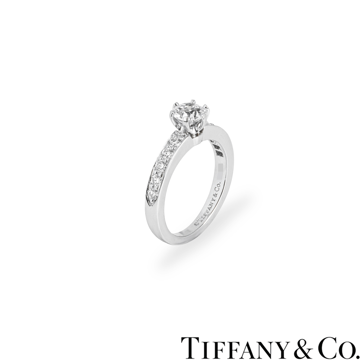 Tiffany & Co. Platinum Diamond Setting Ring 0.51ct G/VS1